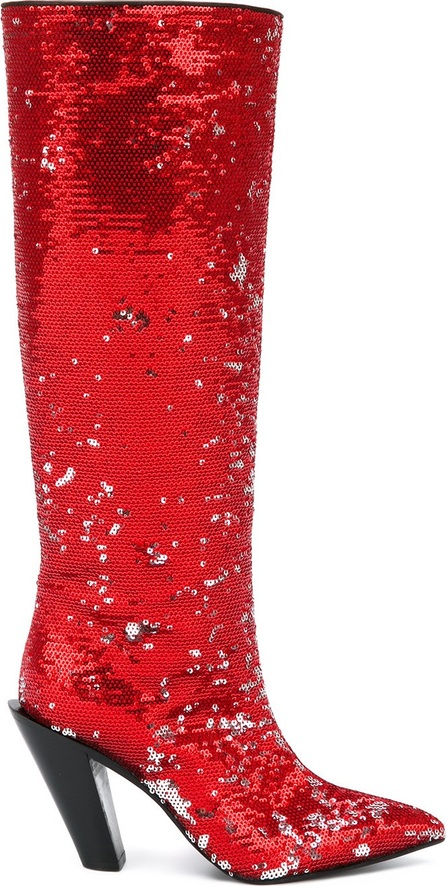 A.F.Vandevorst sequinned pointed boots