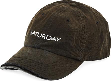 Vetements Weekday Saturday Distressed Baseball Cap