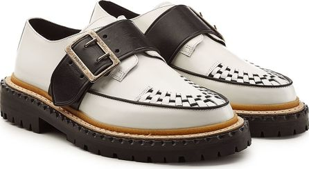 Burberry London England Mason Buckle Strap Leather Creepers