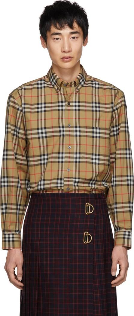 Burberry London England Beige Vintage Check Shirt