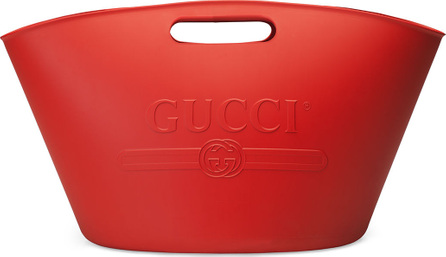 Gucci Logo-Embossed Gomma Tote Bag