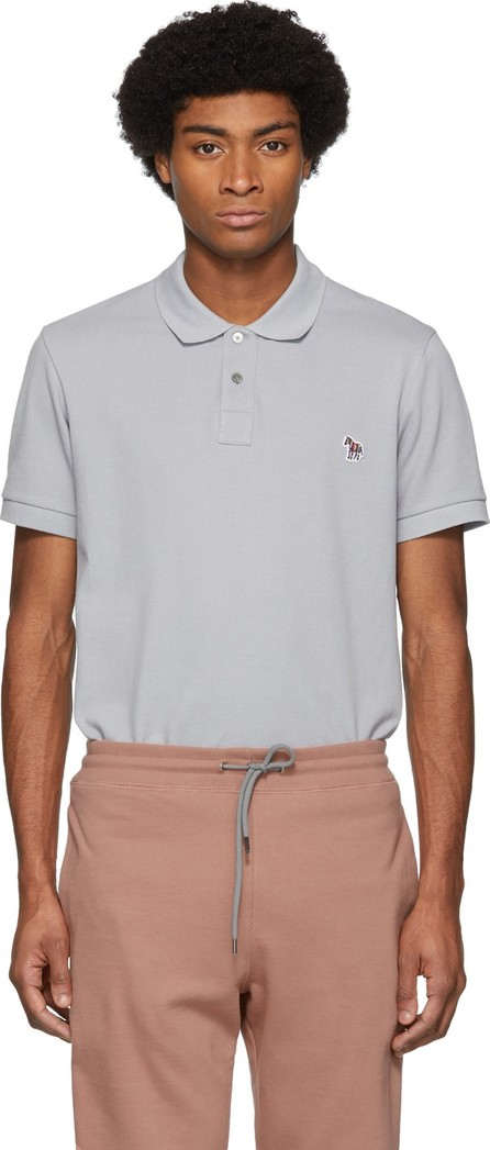 Ps By Paul Smith Grey Zebra Slim Polo