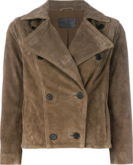 All Saints Cropped double-breasted jacket