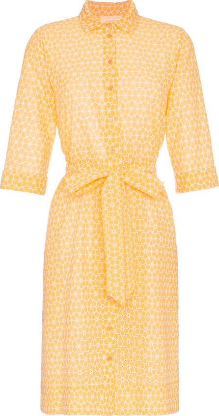 Lisa Marie Fernandez Floral embroidered cotton shirt dress