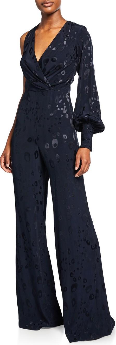 Alexis Naoki Printed One-Sleeve Jumpsuit