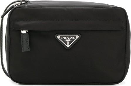 Prada Logo plaque wash bag