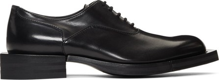 Alexander McQueen Black Rectangular Toe Oxfords