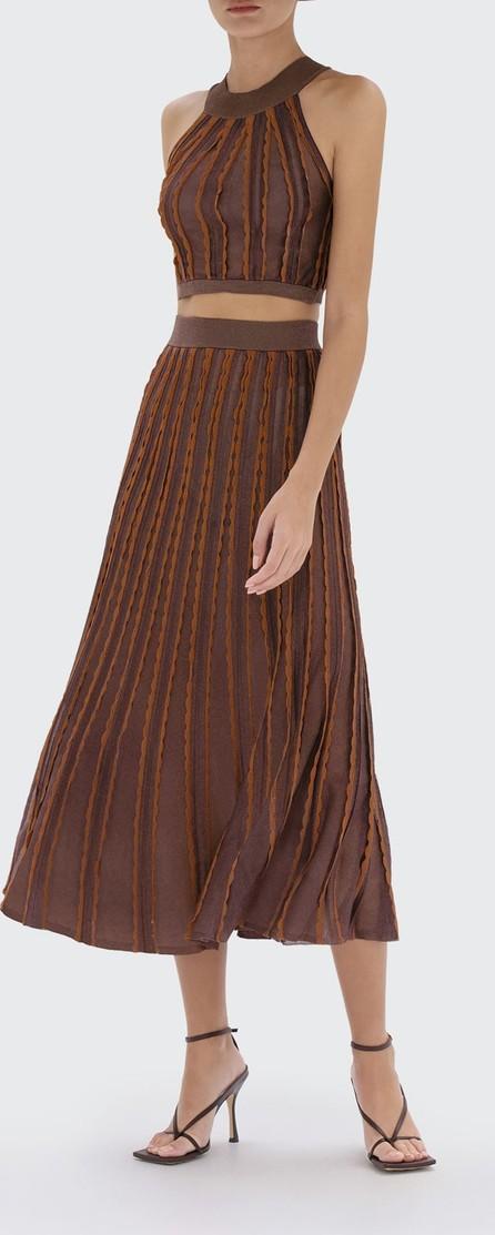 Alexis Zea Scallop-Trim Midi Skirt