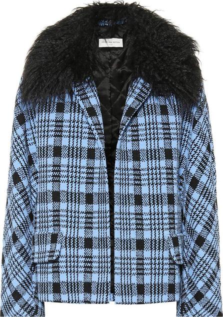 Dries Van Noten Checked wool-blend coat