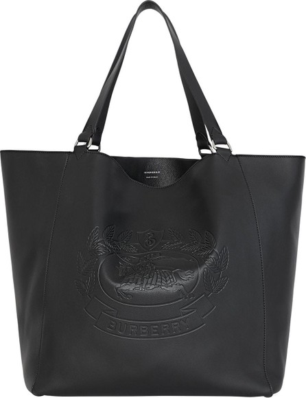 Burberry London England Large Embossed Crest Bonded Leather Tote