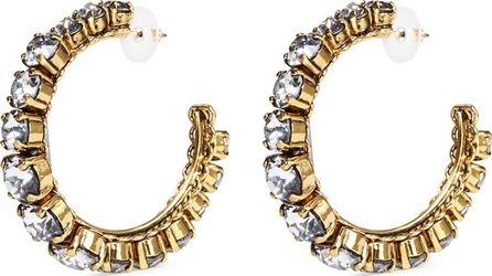 Erickson Beamon Swarovski crystal hoop earrings