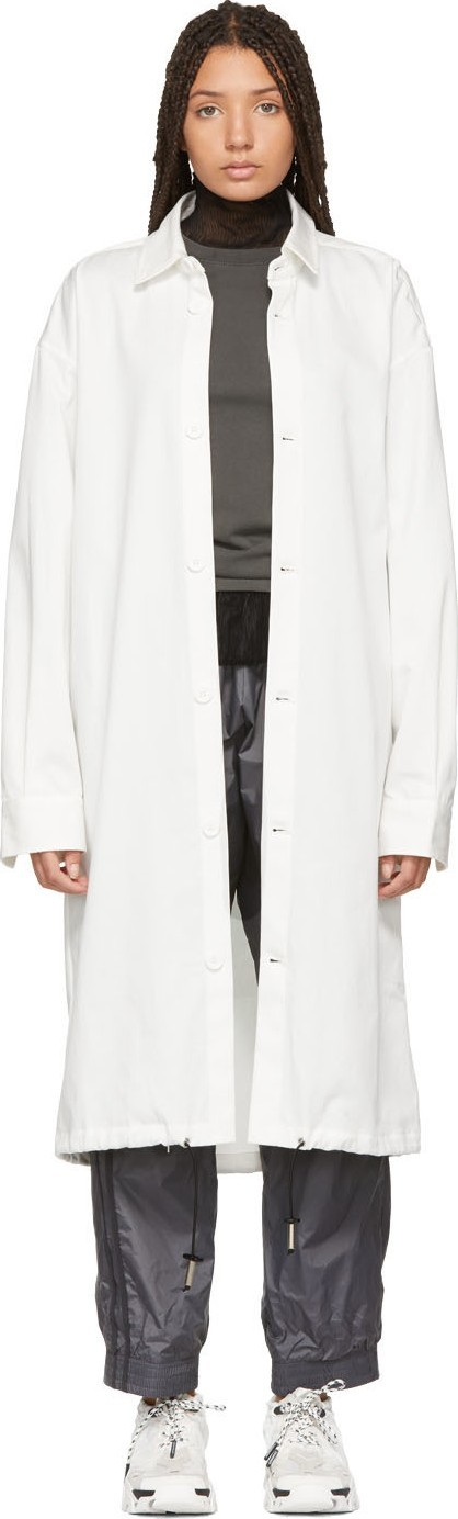 A-Cold-Wall* White Drawstring Coat