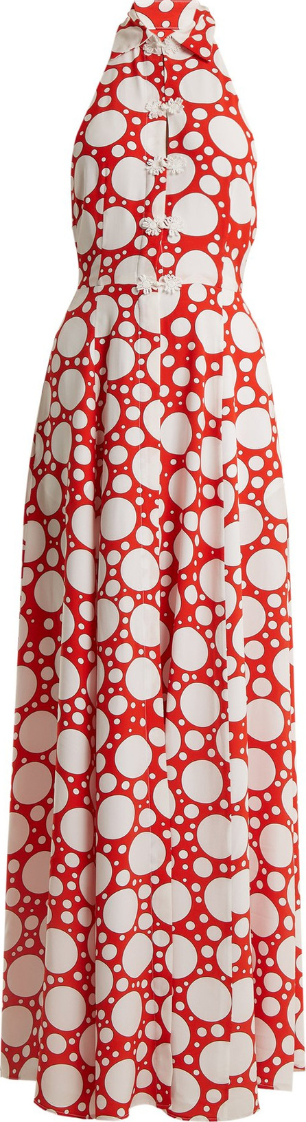 Rebecca de Ravenel Fortuna polka-dot print crepe de Chine dress