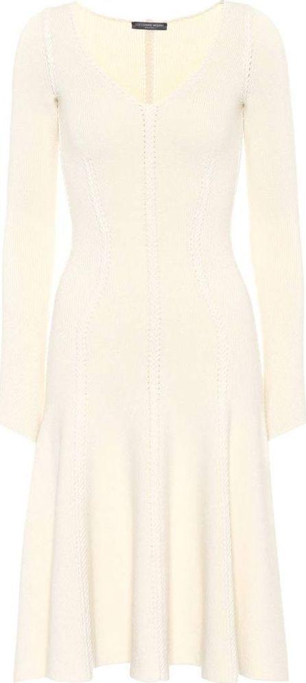 Alexander McQueen. Wool and cotton-blend dress