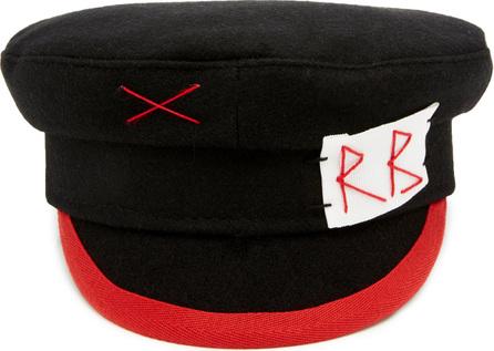 Ruslan Baginskiy Hats Embroidered Wool-Felt Baker Boy Hat
