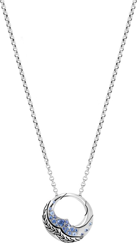 John Hardy 'Lahar' sapphire sterling silver mini Rolo chain necklace
