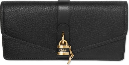 Chloe Aby embellished textured-leather continental wallet
