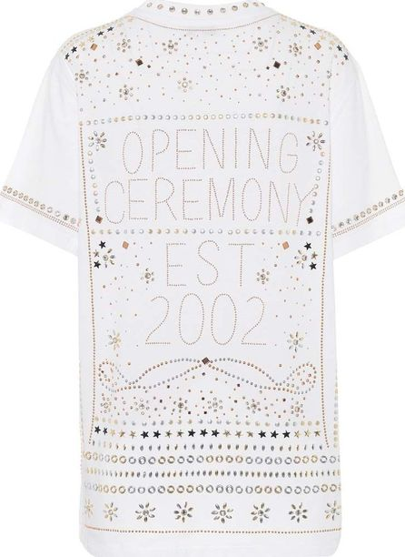 Opening Ceremony Studded cotton T-shirt
