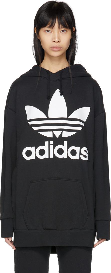 Adidas Originals Black Trefoil Oversized Hoodie