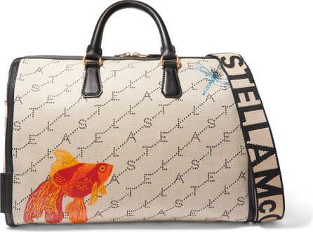 Stella McCartney Faux leather-trimmed printed canvas weekend bag