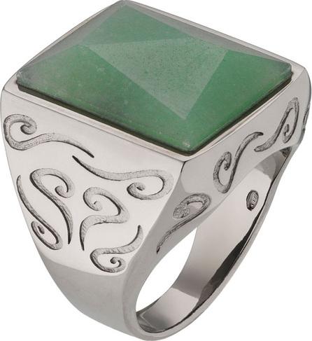 Marco Dal Maso Men's Ara Pyramid Ring with Green Aventurine, Size 10