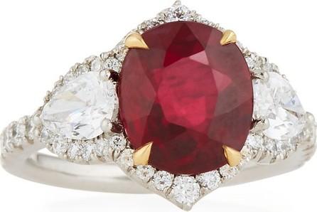 Bayco Two-Tone Diamond & Ruby Ring