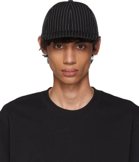 AMI Black & White Stripe Cap
