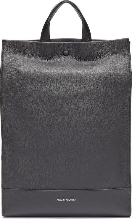 Alexander McQueen Leather backpack tote
