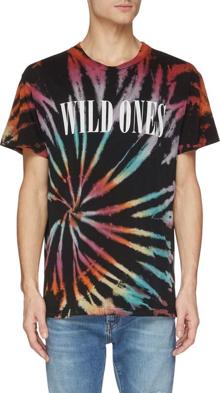 Amiri 'Wild Ones' slogan print tie-dye effect T-shirt