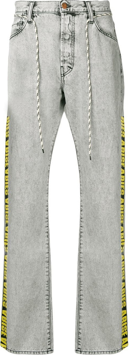 Aries Side logo stripe jeans