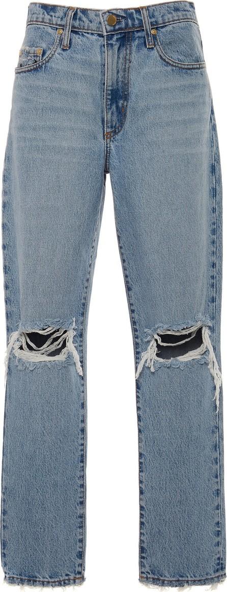 Nobody Denim Frankie Distressed High-Rise Slim-Leg Jeans