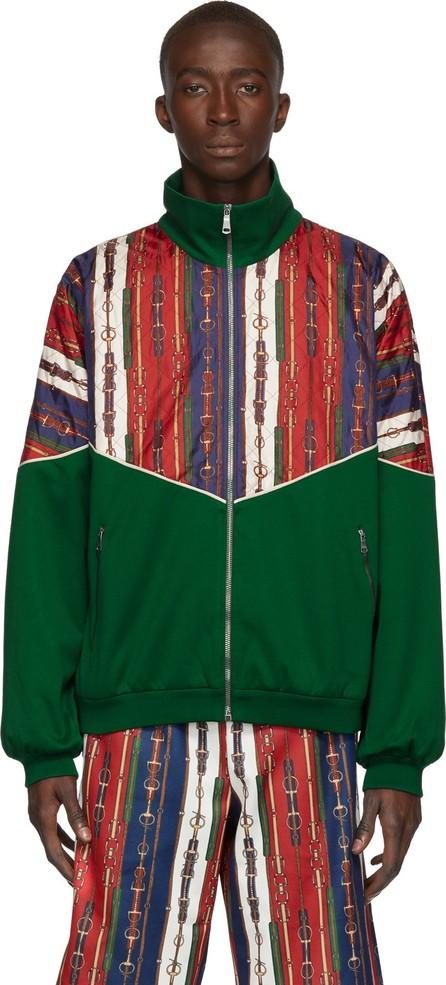 Gucci Green Bi-Material Jacket