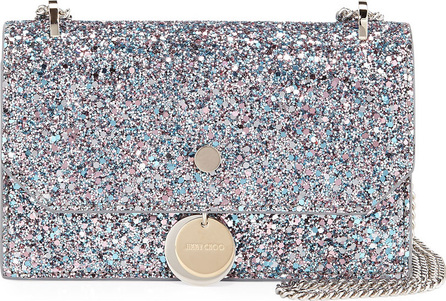 Jimmy Choo Finley Coarse Glitter Crossbody Bag