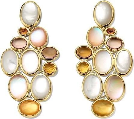 IPPOLITA 18kt yellow gold Rock Candy® Luce stone cluster cascade earrings