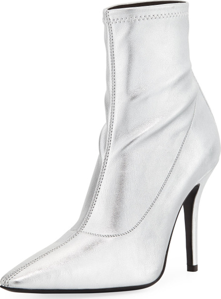 Giuseppe Zanotti Metallic Stretch-Leather Booties