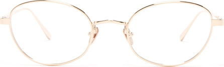 Linda Farrow Round-frame rose gold-plated glasses