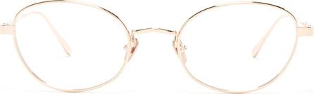 Linda Farrow Round-frame rose gold-plated glasses