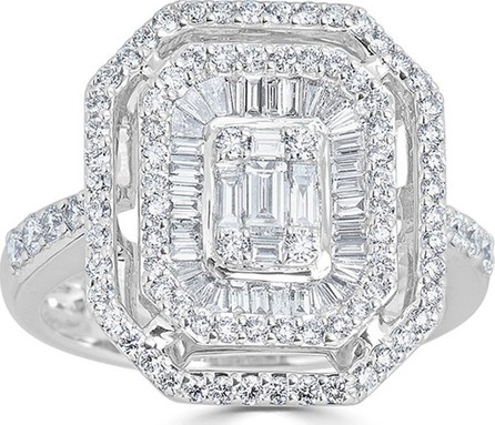 ZYDO 18k Mosaic Mixed-Cut Diamond Ring, 1.14tcw, Size 6.75