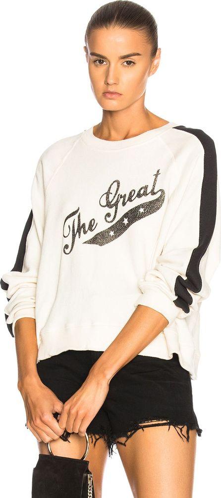 THE GREAT. Crop Logo Sweatshirt