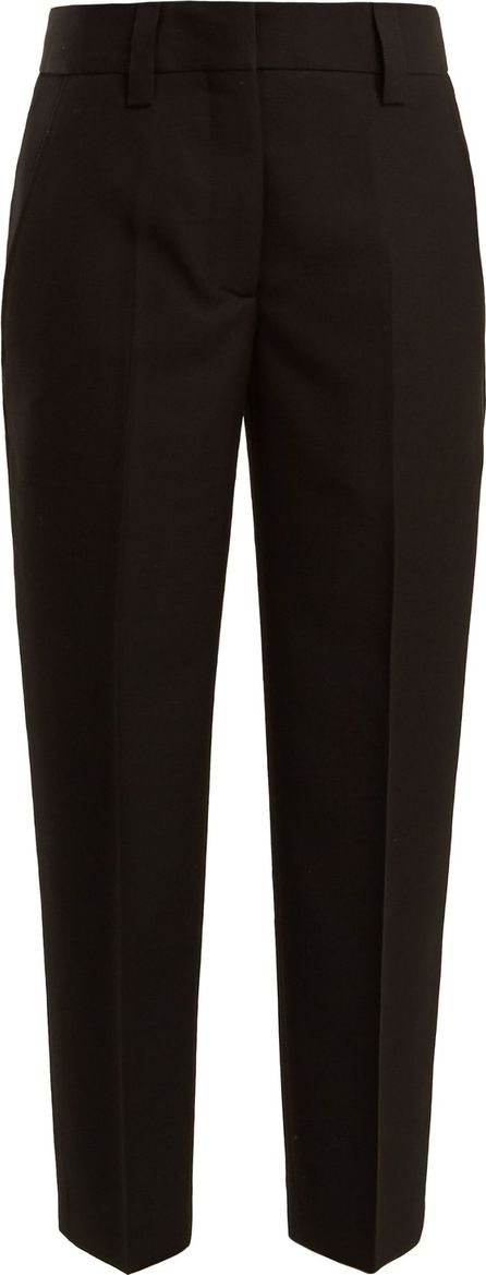 Acne Studios Trea wool-crepe cropped trousers