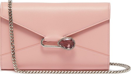 Alexander McQueen Pin leather chain wallet