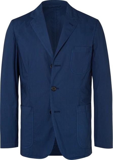 Aspesi Dark-Blue Slim-Fit Unstructured Garment-Dyed Cotton Blazer