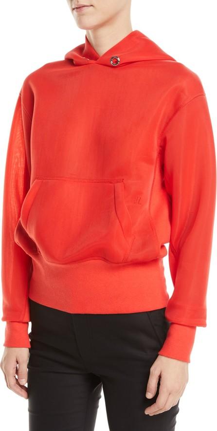 Helmut Lang Sheer-Sleeves Standard Hoodie