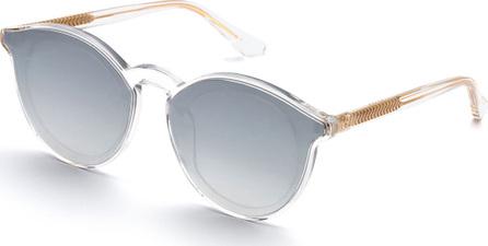 KREWE Collins Round Overlay Mirrored Sunglasses