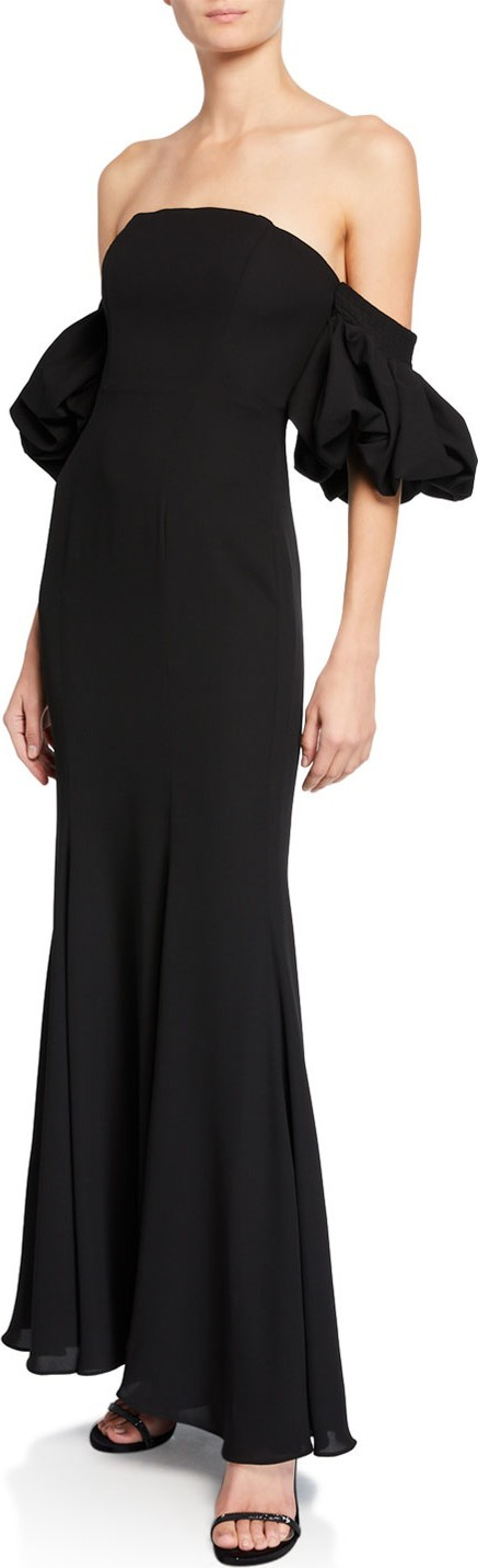 Fame and Partners The Soto Puff-Sleeve Dress