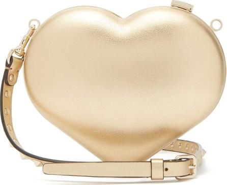 Valentino Carry Secrets metallic leather heart clutch