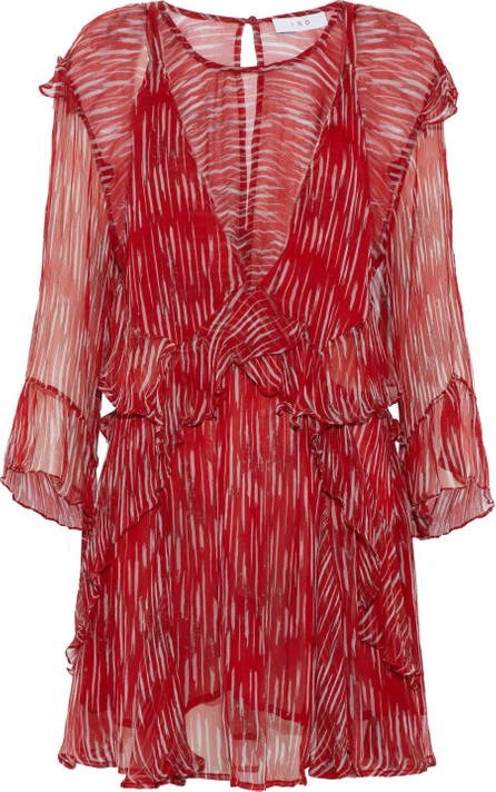 IRO Canyon layered printed georgette mini dress