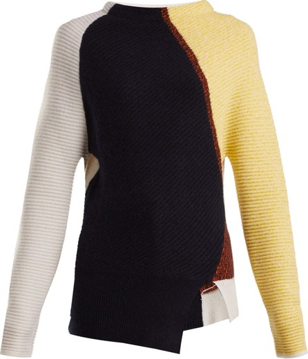 Sportmax Patchwork ribbed-knit cashmere sweater