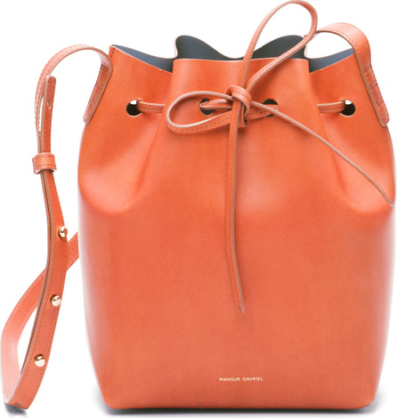Mansur Gavriel Vegetable-Tanned Leather Mini Bucket Bag