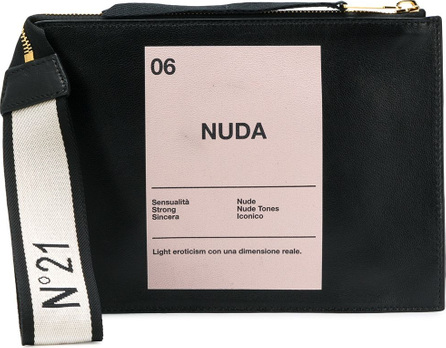 Nº21 Nuda print clutch bag